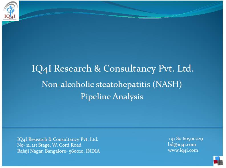 """IQ4I Research released a new drug pipeline report on """"Non-alcoholic steatohepataitis (NASH) Pipeline analysis"""""""