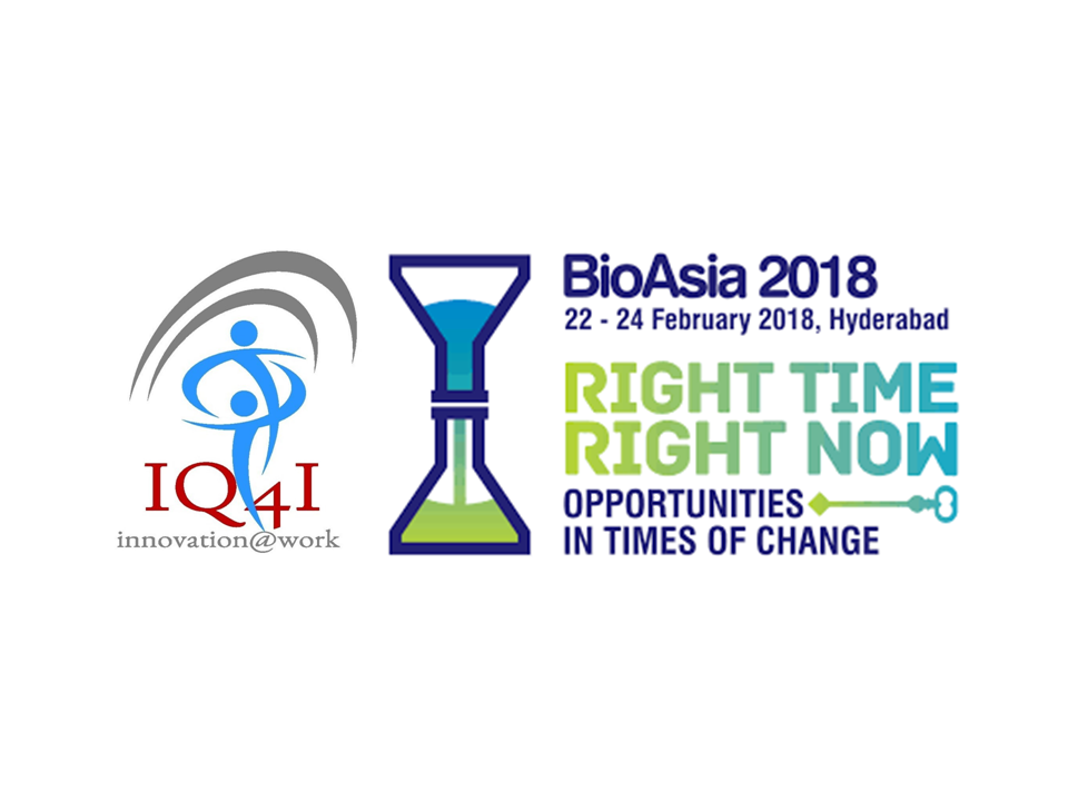 IQ4I participating in BioAsia-2018, Startup Showcase & Business Partnering